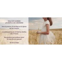 Invitaciones y recordatorios comunión   Complementos Carele